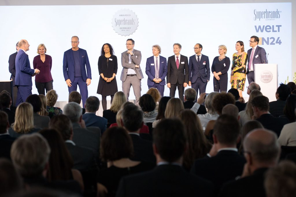 "Verleihung der Awards ""Superbrands Germany 2016/17"" am 15.05.2017 im Journalistenclub im Axel Springer Haus in Berlin. Foto: picture alliance / Robert Schlesinger"